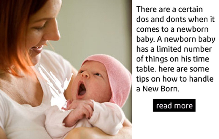 How To Handle A New Born