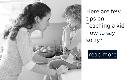 How to teach your kid to say sorry