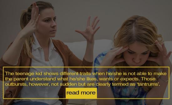 Dealing teenage tantrums