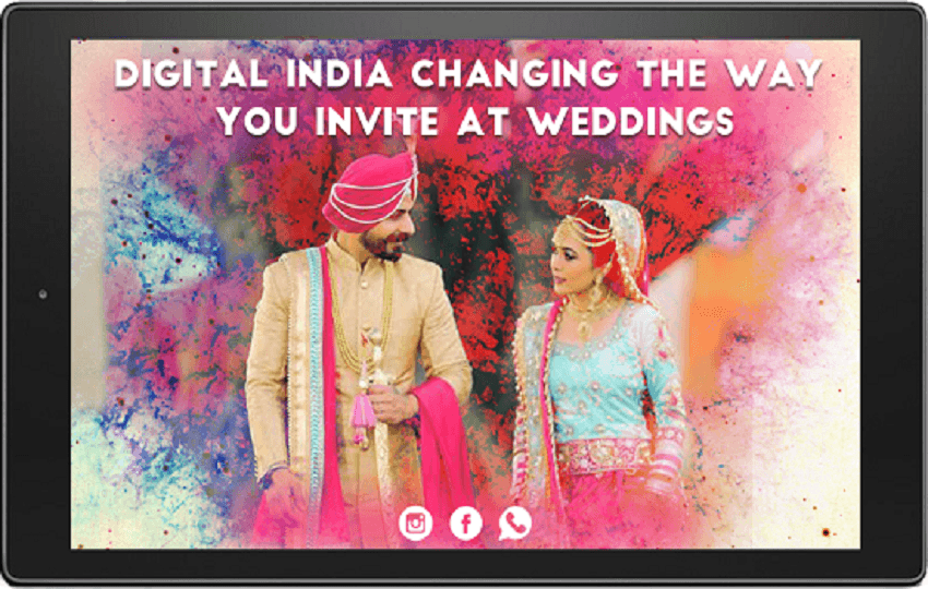 Digital India Changing the Way You Invite At Weddings