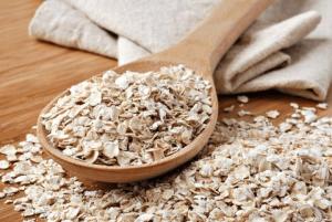 Healthy oats breakfast